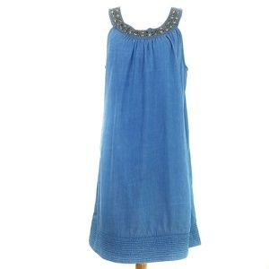 Speed Control Chambray Embelished Dress 1X